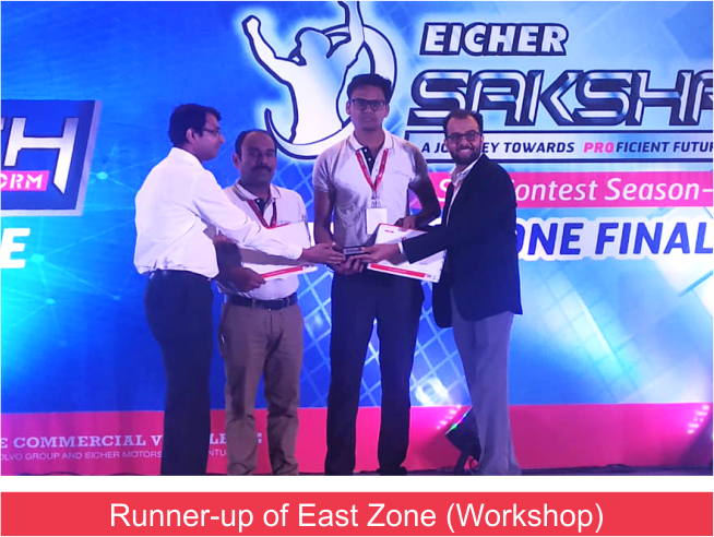 Eicher Saksham Winner (9.3.19) Workshop Runnerup